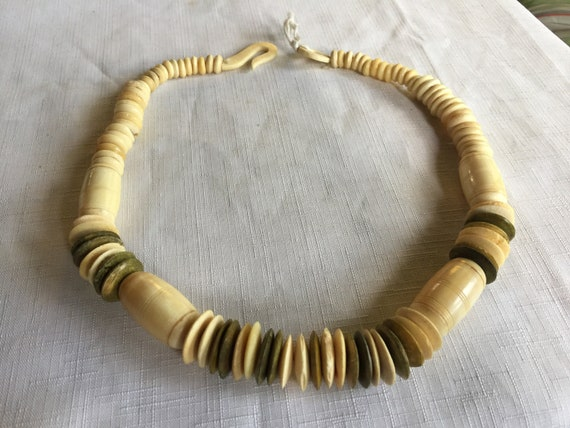 Beige Necklace,Beige Beads,Off White Necklace,Off… - image 2