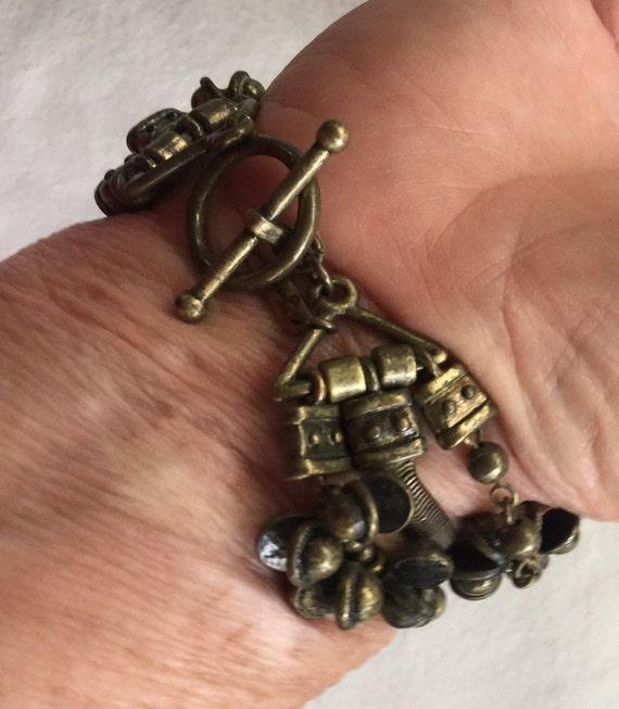Steampunk Bracelet Eclectic Bracelet Industrial Bracelet Metal Bracelet Distress Bracelet Boho Metal Bracelet Boho Charm Bracelet