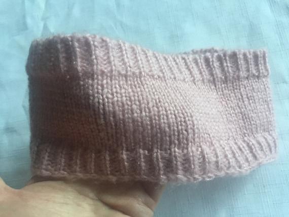 Pink Knit Headband,Pink Headband,Flower Headband,… - image 5