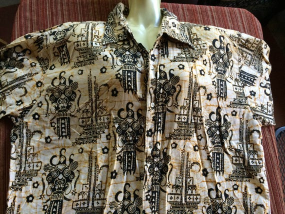 Batik Shirt, Batik Top, Cotton Batik Shirt,Batik B