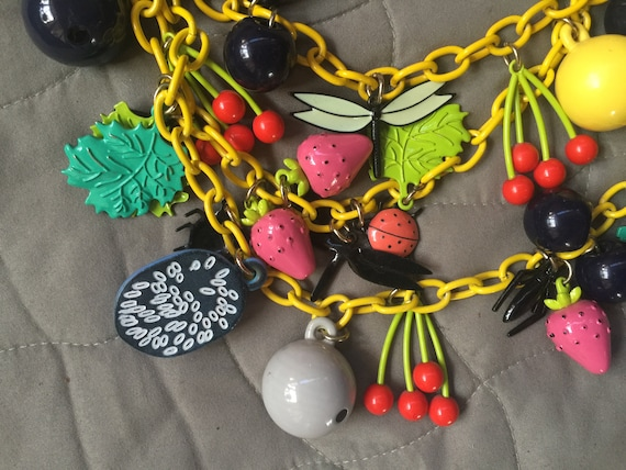Fruit Necklace,Fruit Jewelry,Multi Color Necklace,