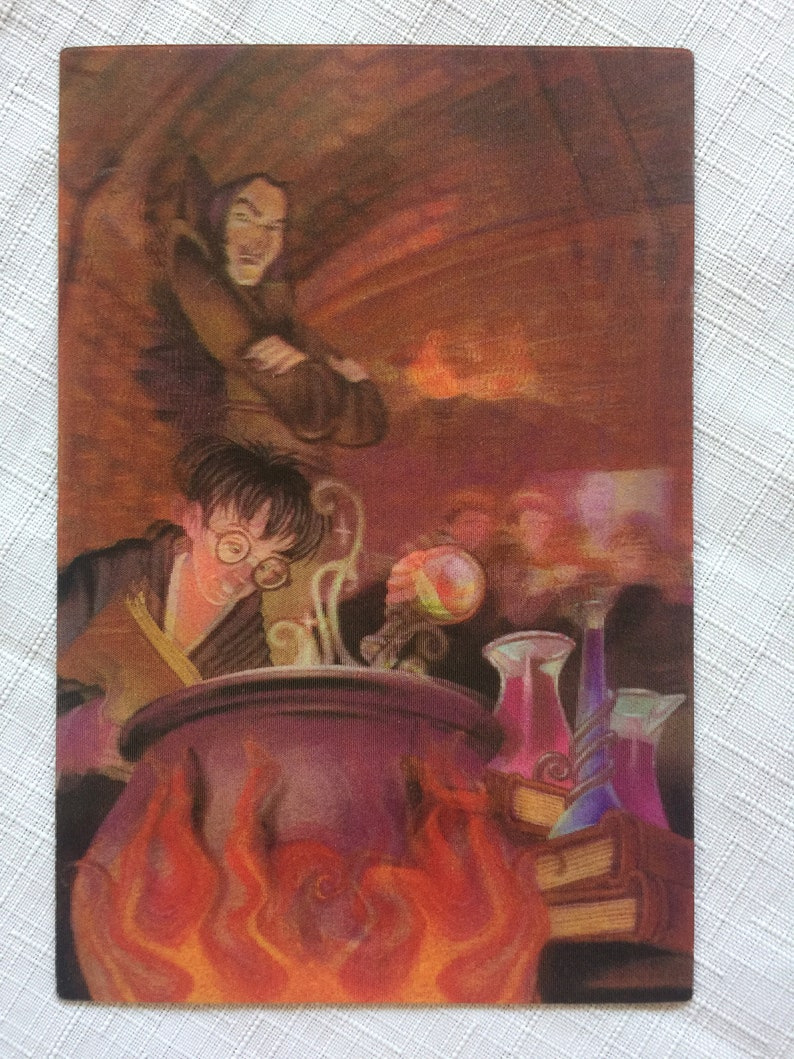 Harry Potter Art JK Rowling Harry Potter Harry Potter Gift Fantasy Card Harry Potter Decor Fantasy Collectible Potter Caulron