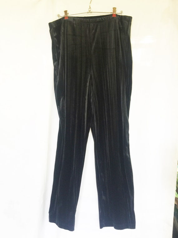 Black Velvet Pants, Black Party Pants, Black Forma