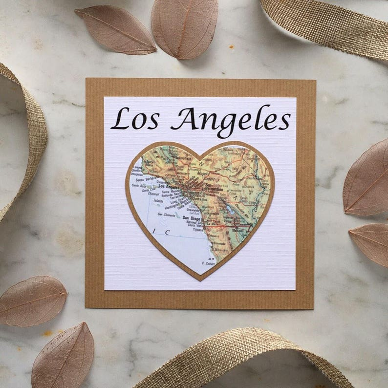 Heart Shaped Travel Vintage Map Themed Table Name/Number for image 0