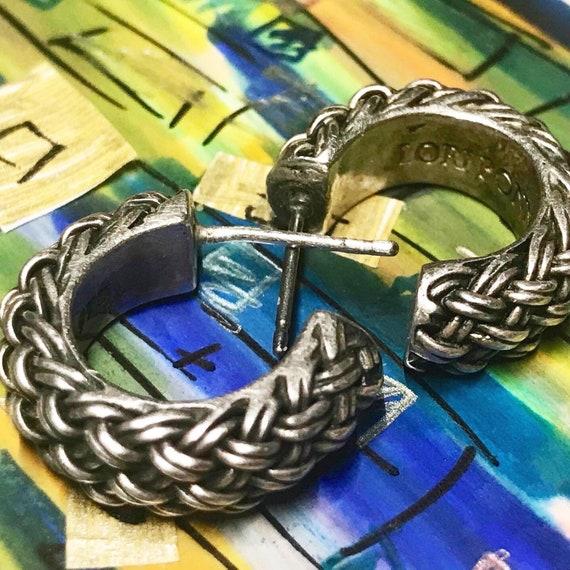 Sterling Silver Hoop Earrings, Pierced Hoop Earrin