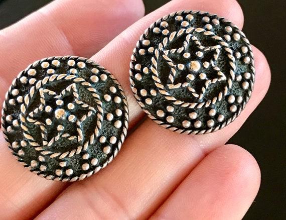 Vintage Taxco Sterling Silver Earrings, Taxco Pier