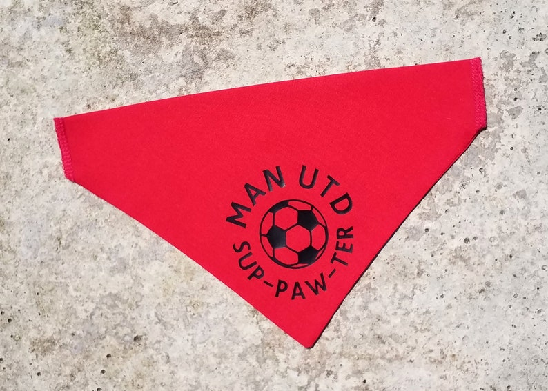 Red For Cat And Dog Man Utd Pet Bandana Manchester United Collar Accessory
