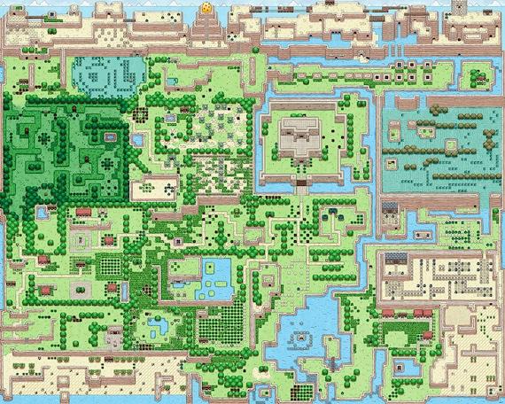 The Legend Of Zelda Link S Awakening Full Map Illustrated