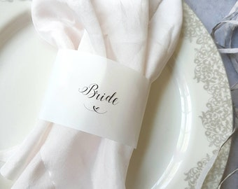 Place cards,Vellum place card, place card vellum,napkin wrap,name cards,napkin name cards,name cards,wedding place cards