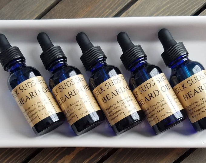 Featured listing image: Nourishing Beard & Hair Oil-With Jojoba Oil, Sweet Almond Oil, Apricot Kernel Oil, and Avocado Oil