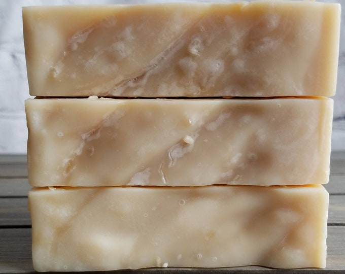 Featured listing image: Toasted Coconut & Honey Cold Process Soap-Made with Real Shredded Coconut, Honey, and Coconut Milk-Unscented