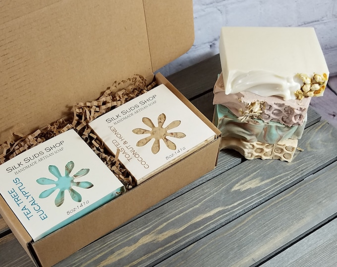 Featured listing image: Pick Four Cold Process Soap Box * SEE DETAILS SECTION* for order instructions.