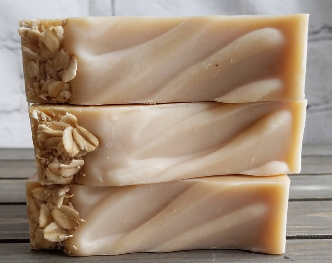 Featured listing image: All-Natural, Fragrance Free OMH (Oatmeal, Milk & Honey) Cold Process Soap