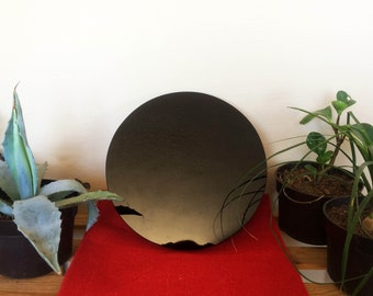 """Extra Large Obsidian Mirror  14""""/ 35cm, with support - Divination - Protection - Tezcatlipoca"""