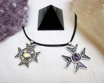 Design Cross of Malta, pendant necklace in silver