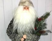 Christmas Decoration,Christmas Gift, Persian Lamb, Old World Santa, Father Christmas, Christmas Decor, Christmas Ornament, Unique Decor