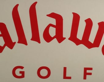Callaway Golf Decal Sticker Decal Sticker Car/Truck/Window/Laptop/Gun Safe/Tool Box/Tablet