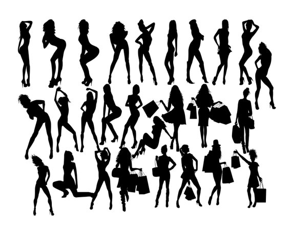 Woman Silhouette Svg Woman Svg Women Clip Art Sexy Girl Etsy