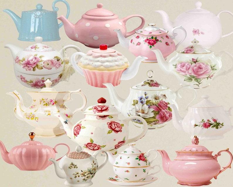 Teapot Clip Art Teacup Vintage Tea Pots Vintage Teapot Etsy