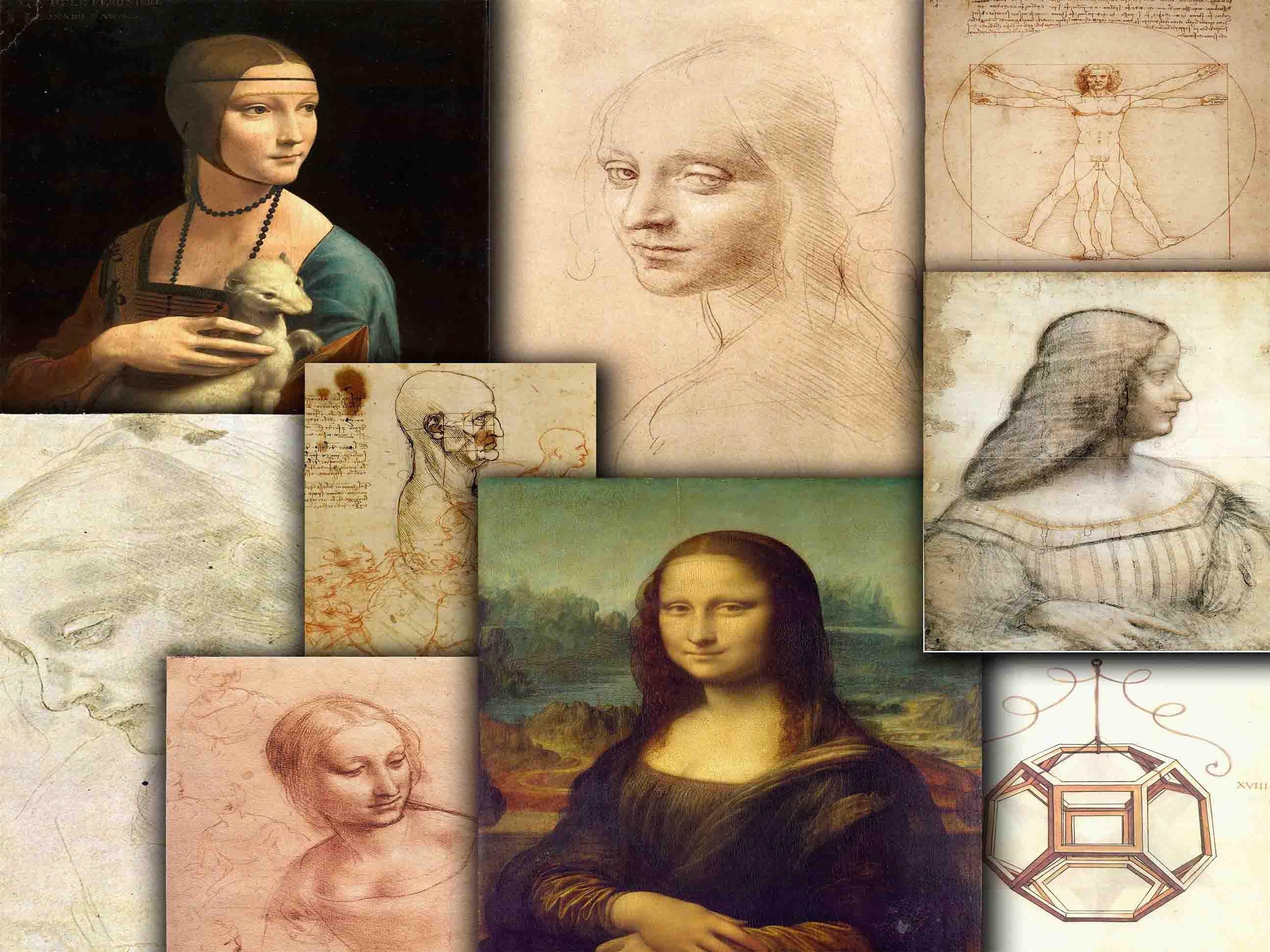 Leonardo Da Vinci Illustrations Anatomy Drawings Portrait Etsy