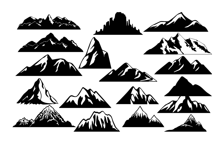 Mountain Clipart Mountain Silhouette Mountain Svg | Etsy