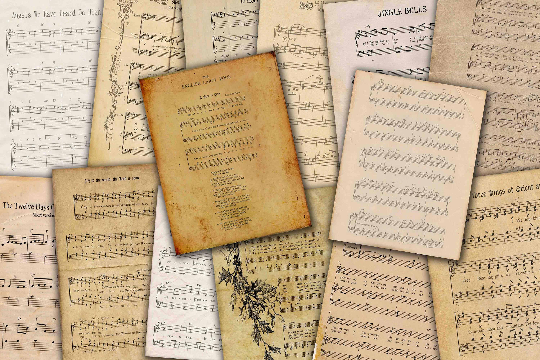 Lieder 14 Jahrgang Urlaub Musik digitale Collage Blatt   Etsy