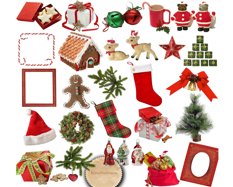 Christmas Clip Art Christmas Gifts Christmas clipart | Etsy