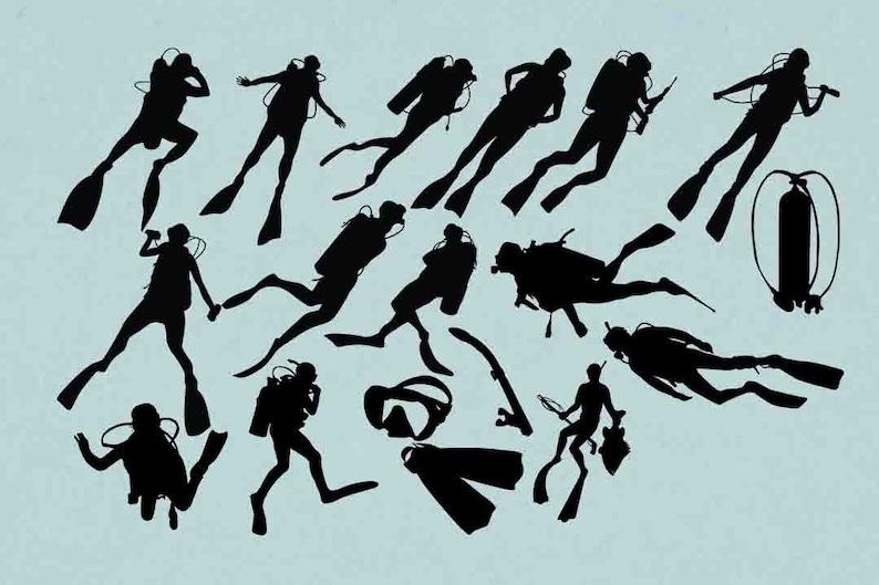 fa914a42f0b1e Tauchen Silhouette Scuba Dive ClipArt Scuba Diver Svg