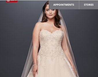 1433181cffb Plus size wedding gown  used  price negotiable