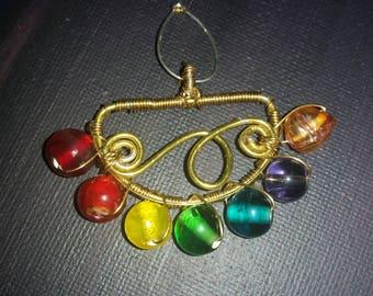 Namaste: Chakra pendant necklace