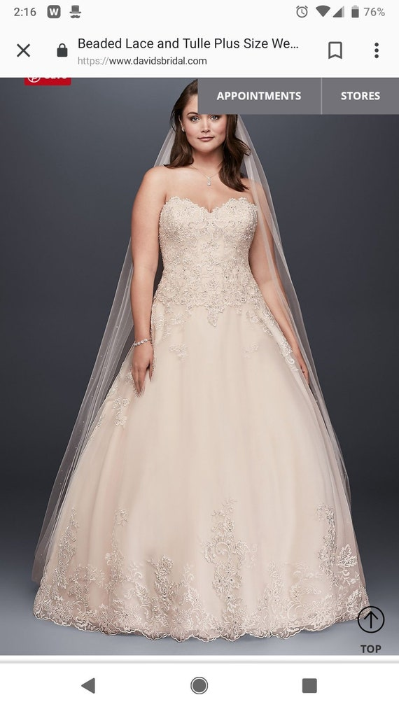 Plus size wedding gown *used* price negotiable