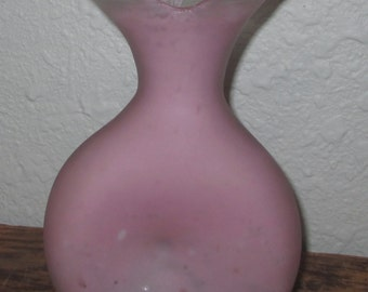 Vintage Glass Vase ~ Lilac  ~ Country Cottage ~ Shabby Chic ~
