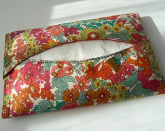 Pocket tissue holder in liberty fabric