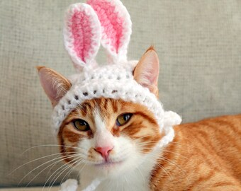 Bunny Ears for Cats, Easter Bunny Costume for Cats, Easter Rabbit Ears for Cats, Cat Easter Bunny Hat, Easter Photo Prop for Cat, Easter Cat