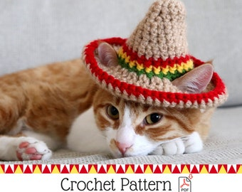 488c14fe128 Cat Cowboy Hat Crochet Pattern