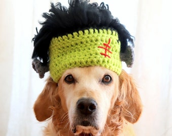 Frankenstein Hat for Dogs, Cute & Easy Monster Halloween Pet Costume for Large Dogs