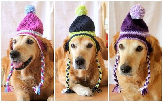 Dog Hat Ear Flap Dog Hat Dog Beanie Pom Pom Hat for Dogs  f4965f2246e