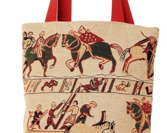 Bayeux Tote Bag - Bayeux Shoulder Bag - Fine Arts Handbag - Tapestry Hobo Bag - Woven Handbag - Art Gift - Museum Gift