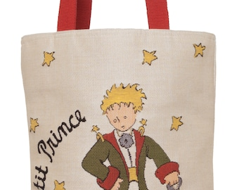 tapestry tote bag Le Petit Prince planète - belgian tapestry bag The Little Prince by Exupéry