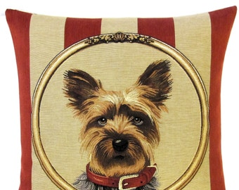 Yorkshire Terrier Pillow - Yorkie Gift - Yorkshire Terrier Gift Yorkie Pillow - Tapestry Pillow - Yorkshire Terrier Portrait - PC-5601