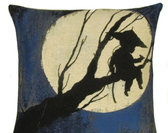 belgian tapestry decorative throw pillow gobelin cushion cover Moongirl by Carll Cneut