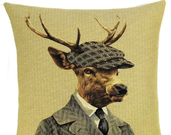 Quirky Stag Decor - Stag Pillow Cover - Stag Lover Gift - Funny Stag Cushion Cover