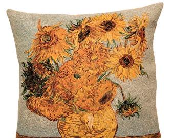 Sunflowers Pillow Cover - Sunflowers Decor - Van Gogh Pillow Cover - Van Gogh Museum Gift - Flower Decor Gift