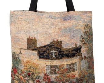 House of Monet Handbag - Monet Shoulder Bag - Fine Arts Tote Bag - Tapestry Hobo Bag - Woven Handbag - Monet Gift - Maison de Monet