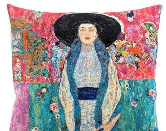 Portrait of Adele Bloch - Klimt Portrait Pillow Cover - Gustav Klimt Decor - Fien Arts Gift - Klimt cushion cover - Museum Decor
