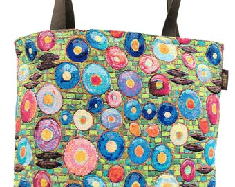 Klimt Tote Bag - Gustav Klimt Shoulder Bag - Fine Arts Handbag - Tapestry Hobo Bag - Woven Handbag - Art Gift