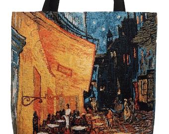 Van Gogh Night Cafe Handbag - Tapestry Tote Bag - Shoulder Bag - Gobelin Hobo Bag - Museum Gift - Vincent Van Gogh Lover Gift