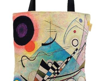 Kandinsky Tote Bag - Kandinsky Shoulder Bag - Fine Arts Handbag - Tapestry Hobo Bag - Woven Handbag - Art Gift - Abstract Art