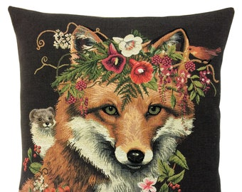 Fox Decor - Fox Pillow Cover - Fox Lover Gift - Fox Cushion Cover - Fox Pillow Case - Forest Decor Accent