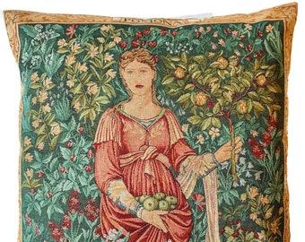 "Pomona Pillow Cover - William Morris Decor - William Morris Gift - Gobelin Throw Pillow - 19""x19"" Tapestry Cushion Cover - Fine Arts Gift"